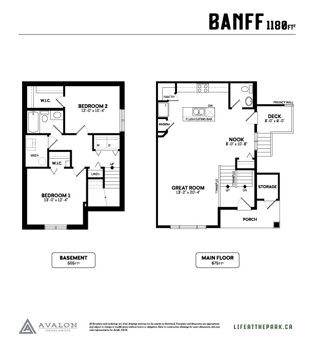 The Park at Garden Heights banff floor plan