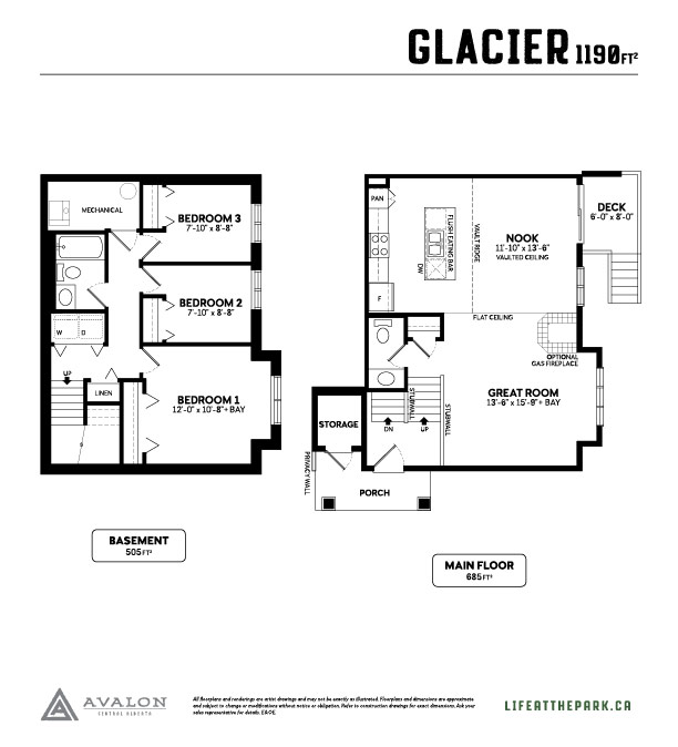 The Park at Garden Heights glacier floor plan