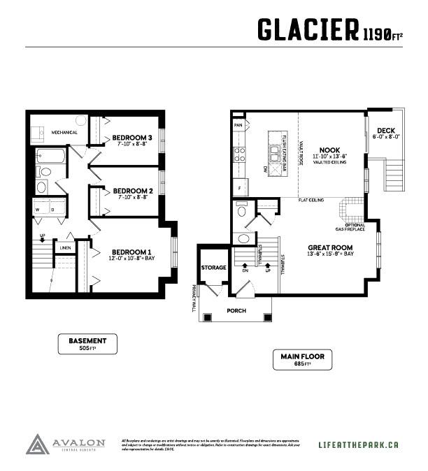 The Park at Garden Heights glacier floor plan
