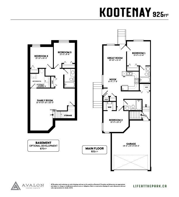 The Park at Garden Heights kootenay floor plan