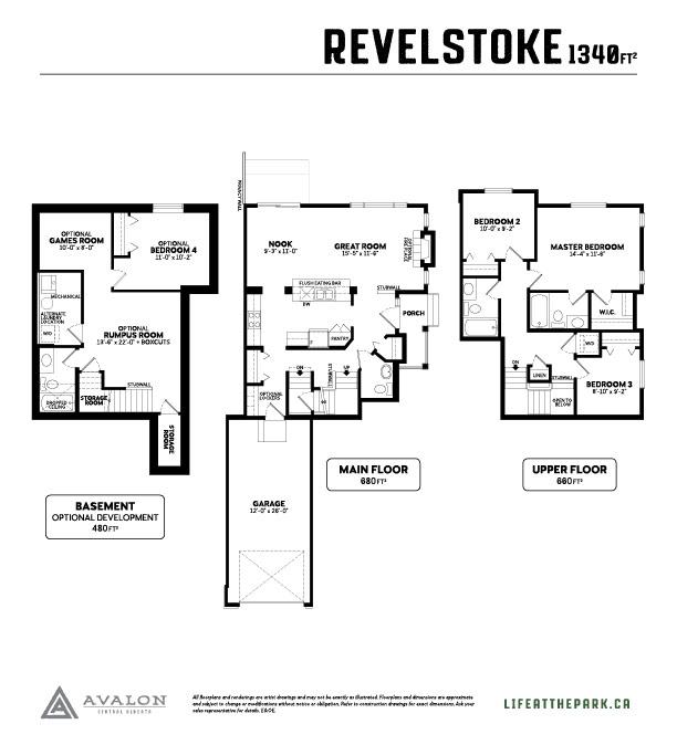 The Park at Garden Heights revelstoke floor plan