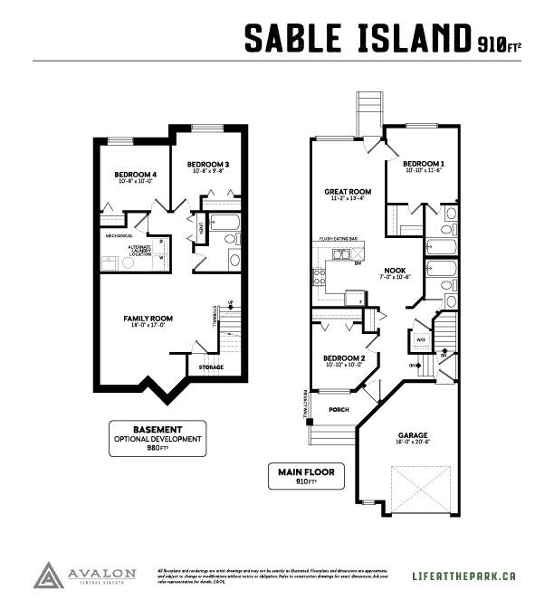The Park at Garden Heights sable island floor plan