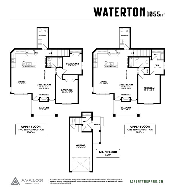 The Park at Garden Heights Waterton floor plan