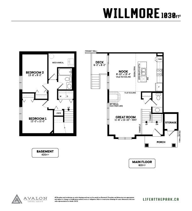 The Park at Garden Heights Willmore floor plan
