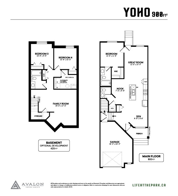 The Park at Garden Heights Yoho floor plan